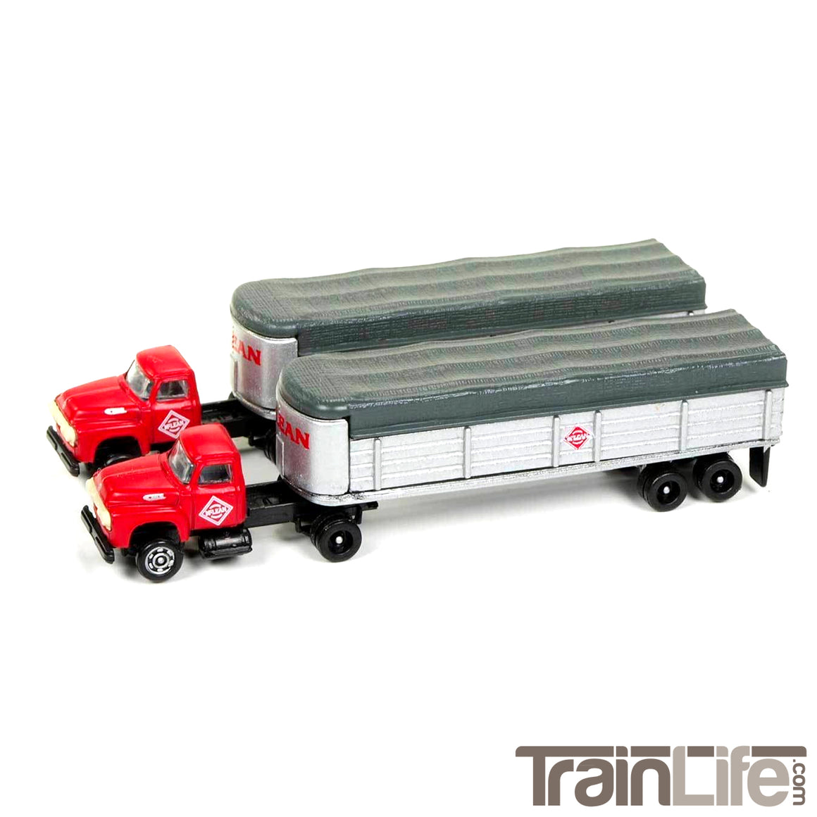 N Scale: 1954 Ford Tractor & Trailer Set - McLean Trucking - 2 Pack