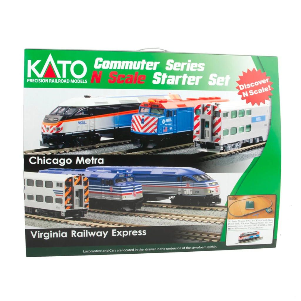 N Scale: Commuter Train - Starter Train Set - Metra 'New Scheme'