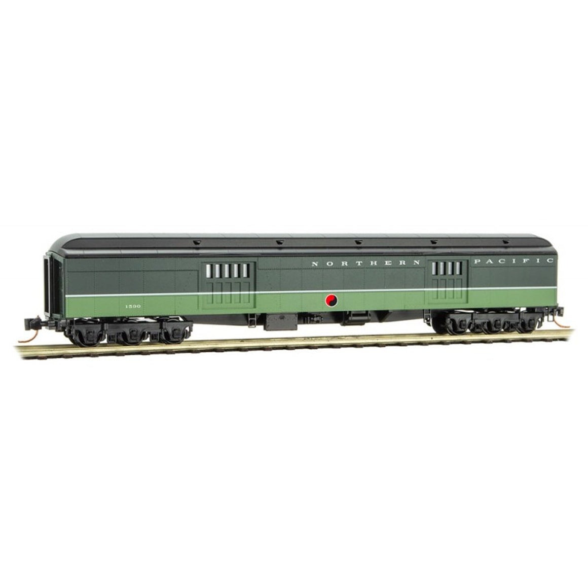 N Scale: 70' Heavyweight Baggage Car - Northern Pacific