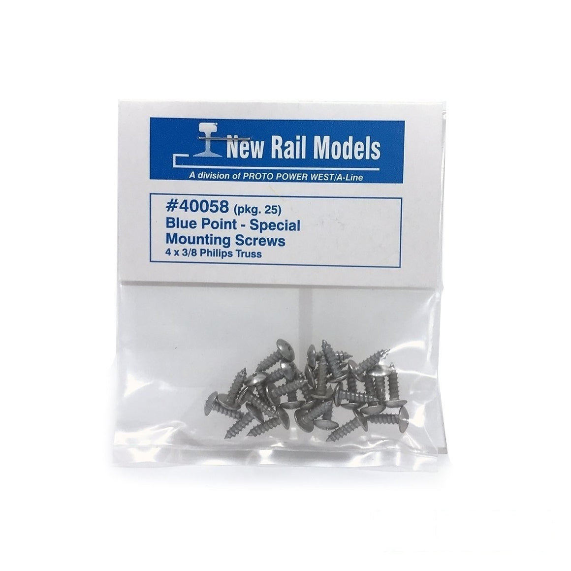 Blue Point™ -  Turnout Controller Mounting Screws - 25 Pack