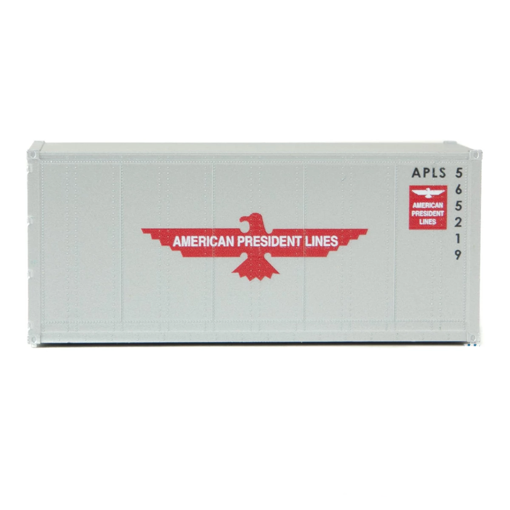 HO Scale: 20' Smooth-side Container - American President Lines
