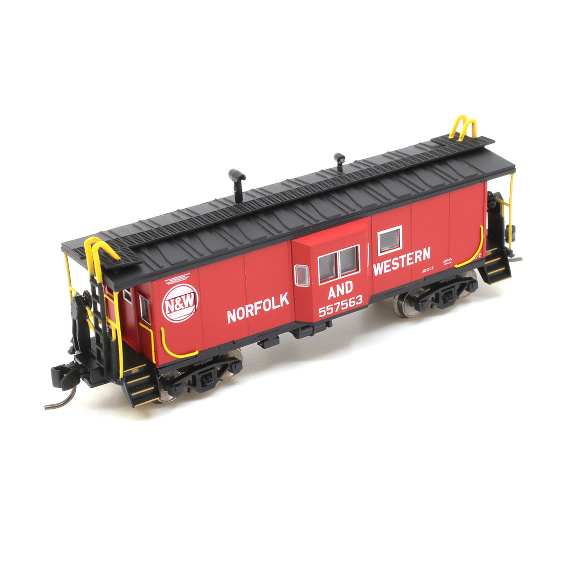 N Scale: International Car Bay Window Caboose Phase 3 - Norfolk & Western