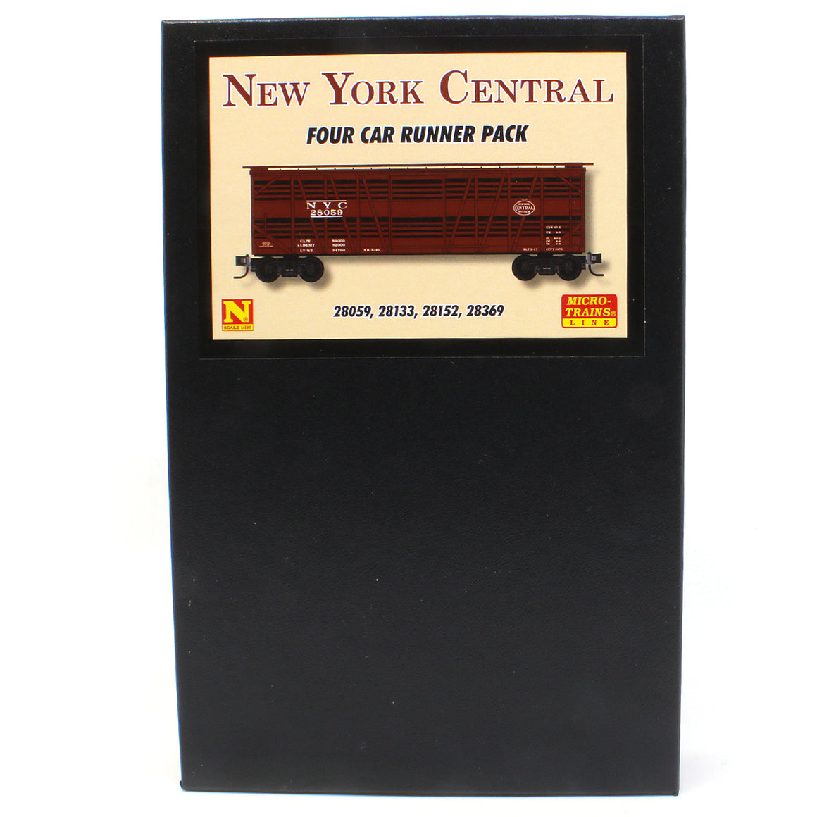 Micro-Trains N Scale: 40' Despatch Stock Car - New York Central - 4 Pack