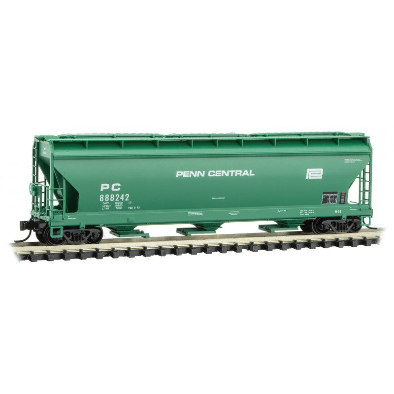 N Scale: 3-Bay Covered Hopper - Penn Central