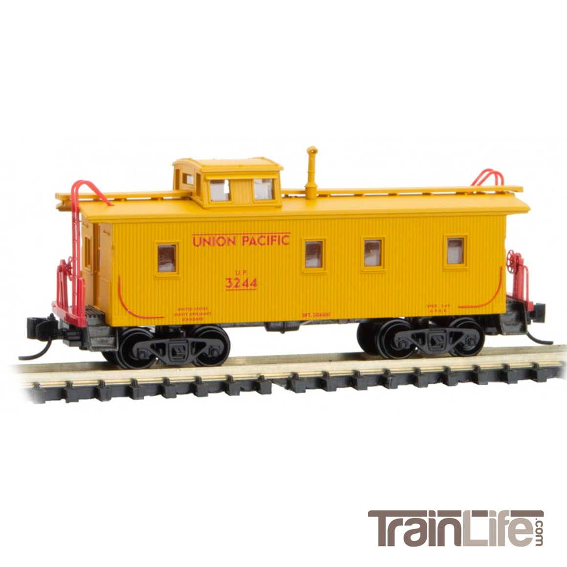 N Scale: 34-Foot Wood Caboose - Union Pacific
