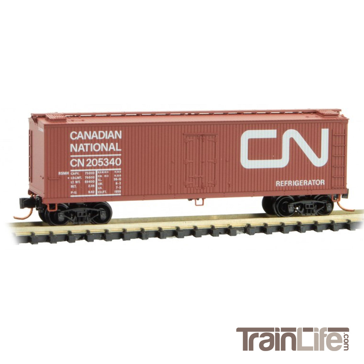 N Scale: 40-Foot Double Sheathed Wood Reefer - Canadian National