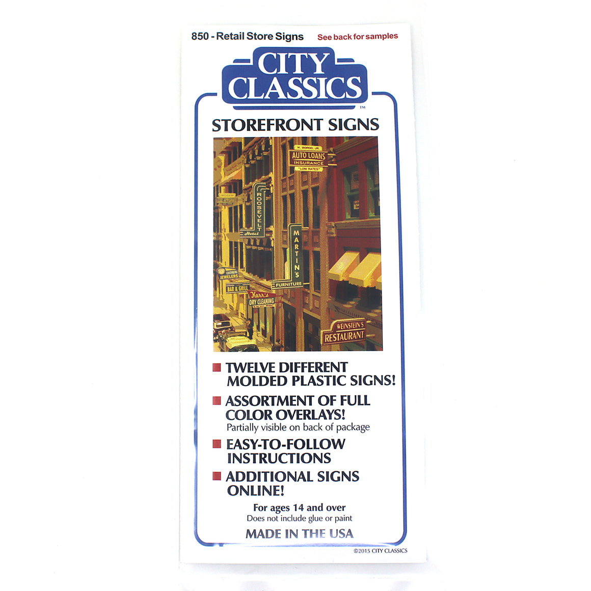 HO Scale: Storefront Signs - Kit