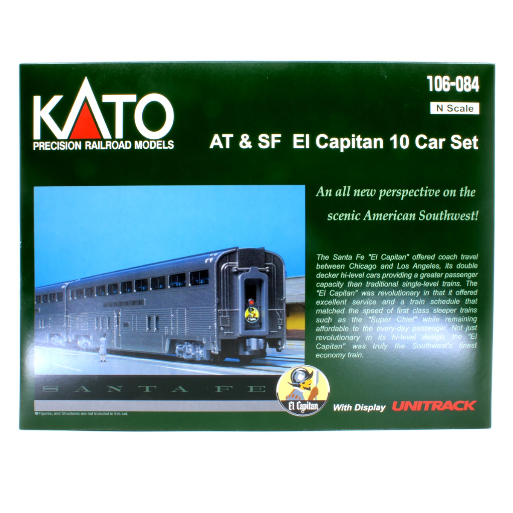 N Scale: Santa Fe El Capitan Passenger Train - Ten-Car Set