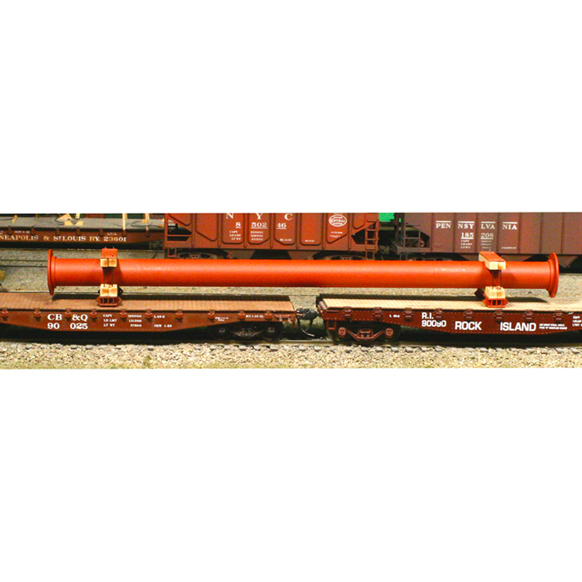 HO Scale: Flanged Pipe Load & Blocking - Kit