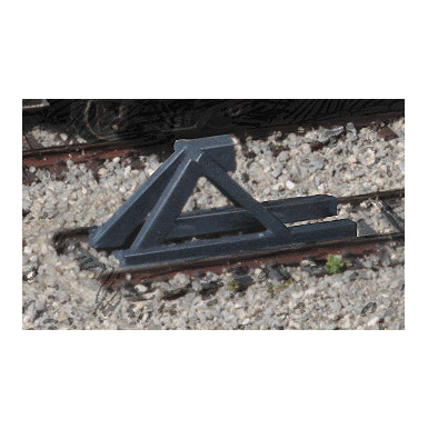 N Scale: Track Bumpers - 5 Pack