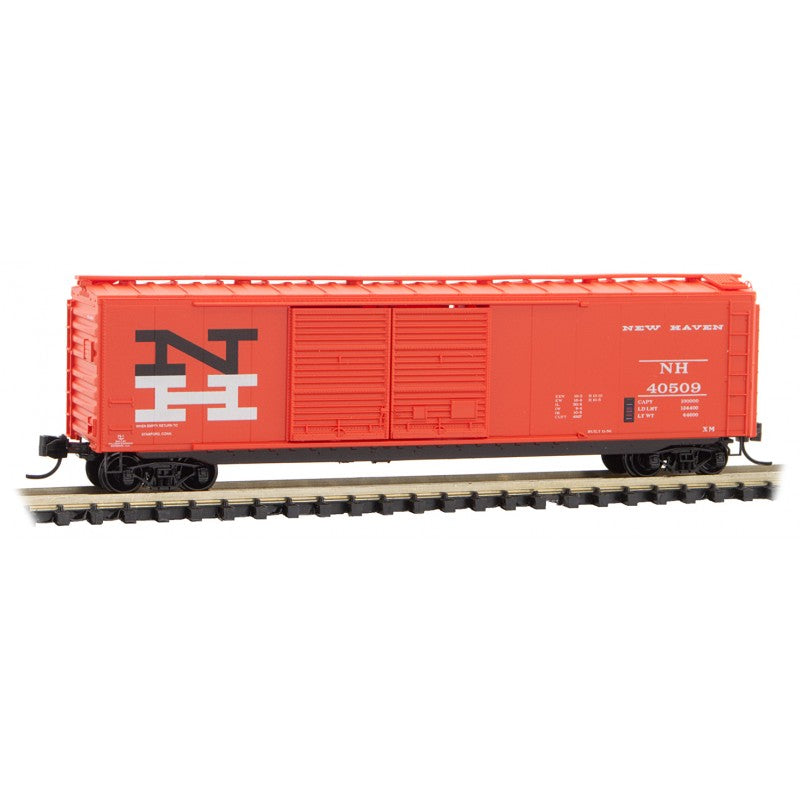 N Scale: 50' Standard Double Door Boxcar - New Haven