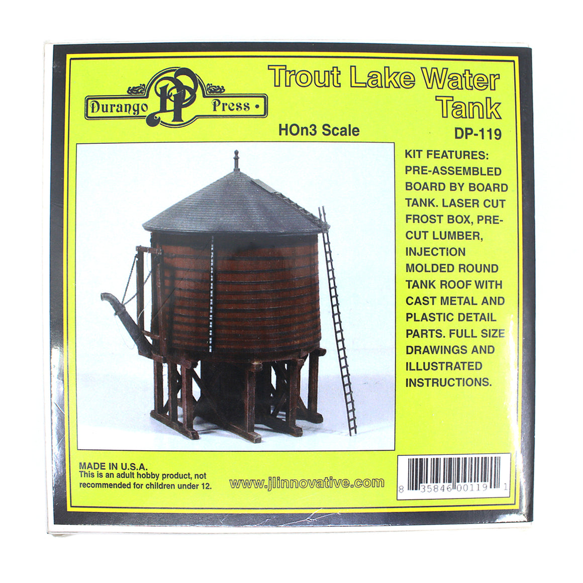 HOn3 Gauge: Rio Grande Southern Trout Lake Water Tank - Kit