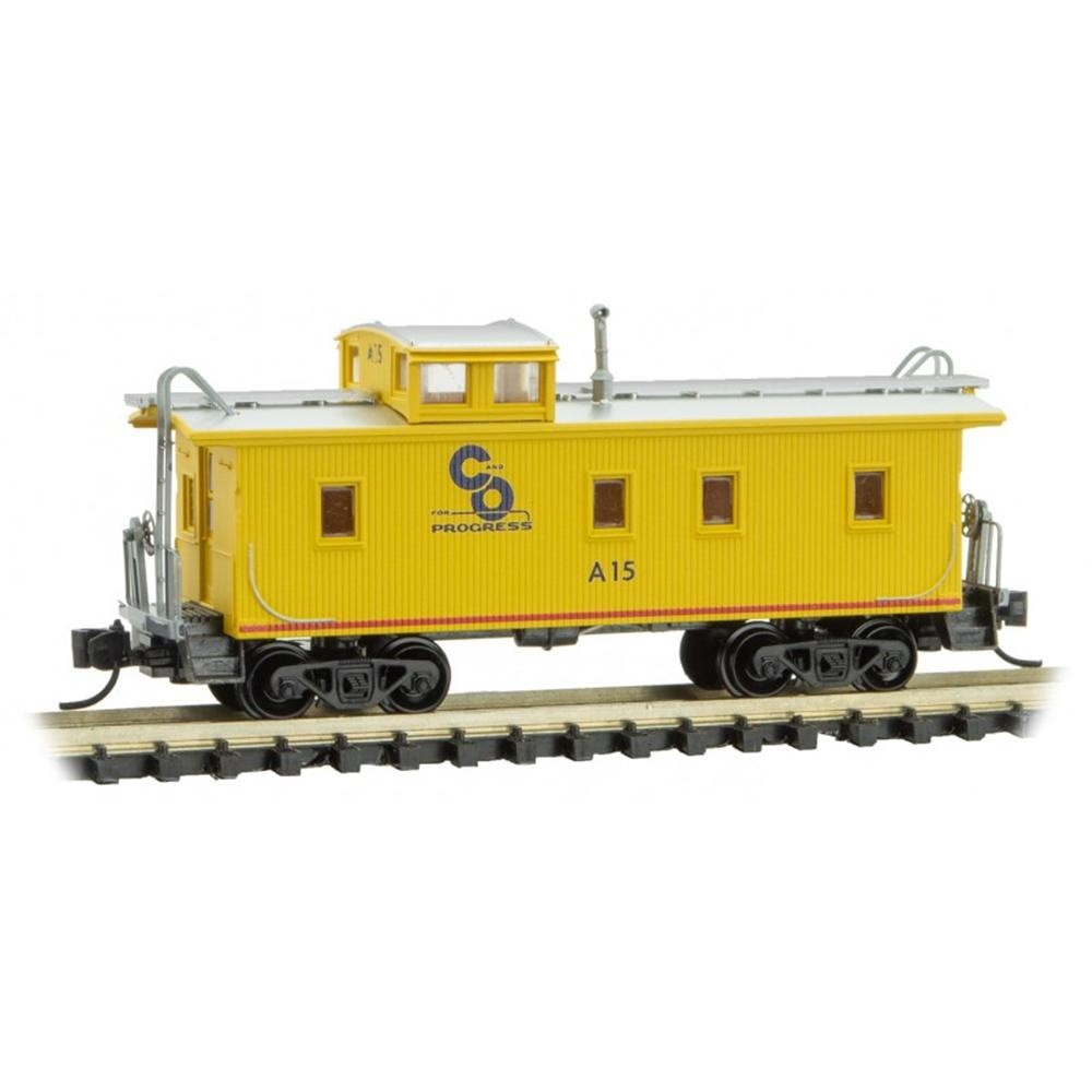 N Scale: 34' Wood Sheathed Caboose - C&O