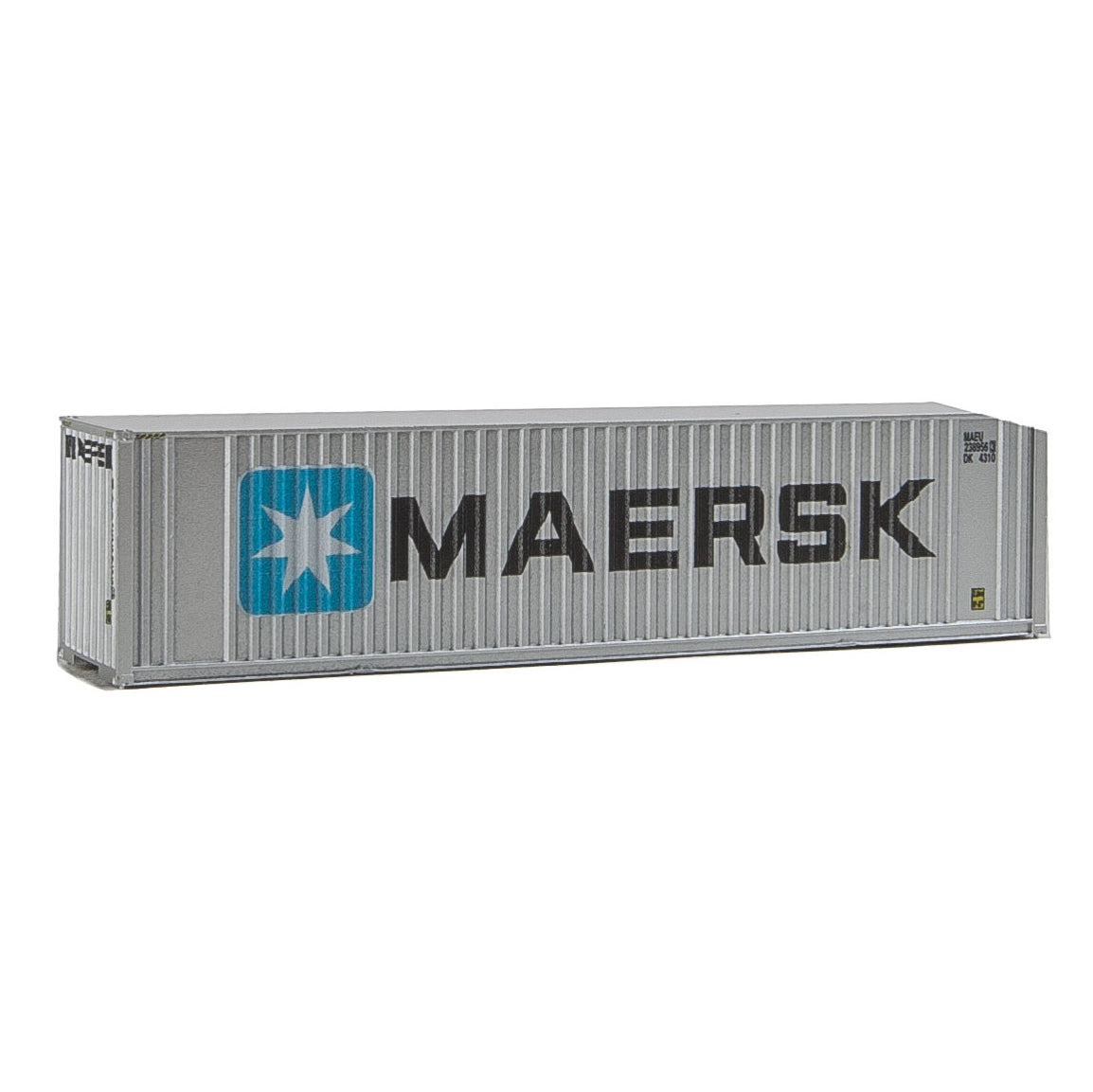 N Scale: 40' Hi Cube Ribbed Side Container - Maersk