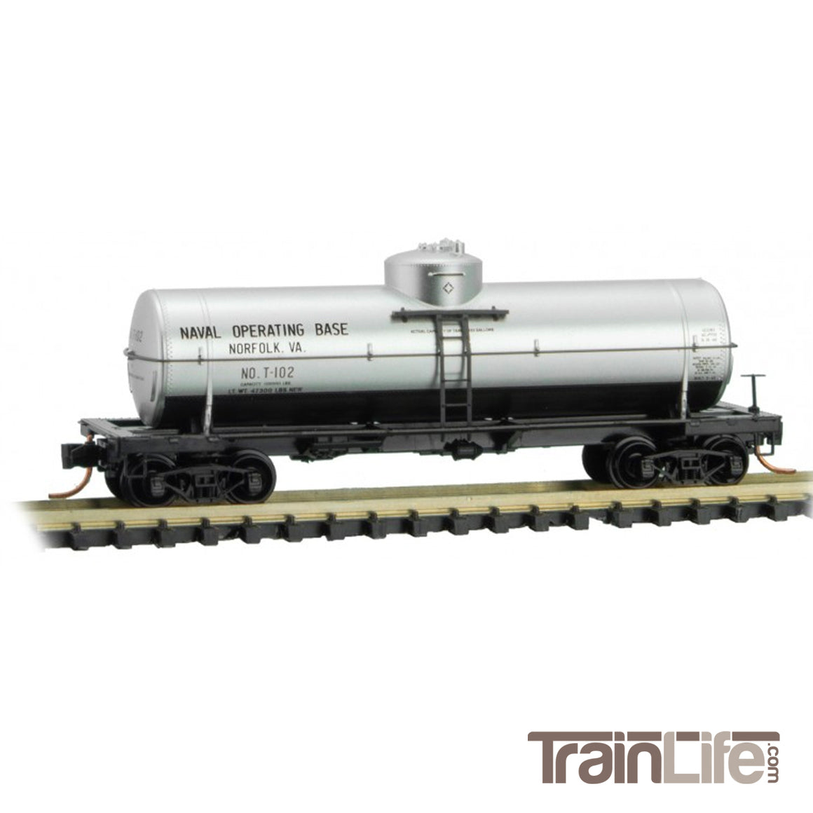 N Scale: 39-Foot Single Dome Tank Car - U.S. Navy