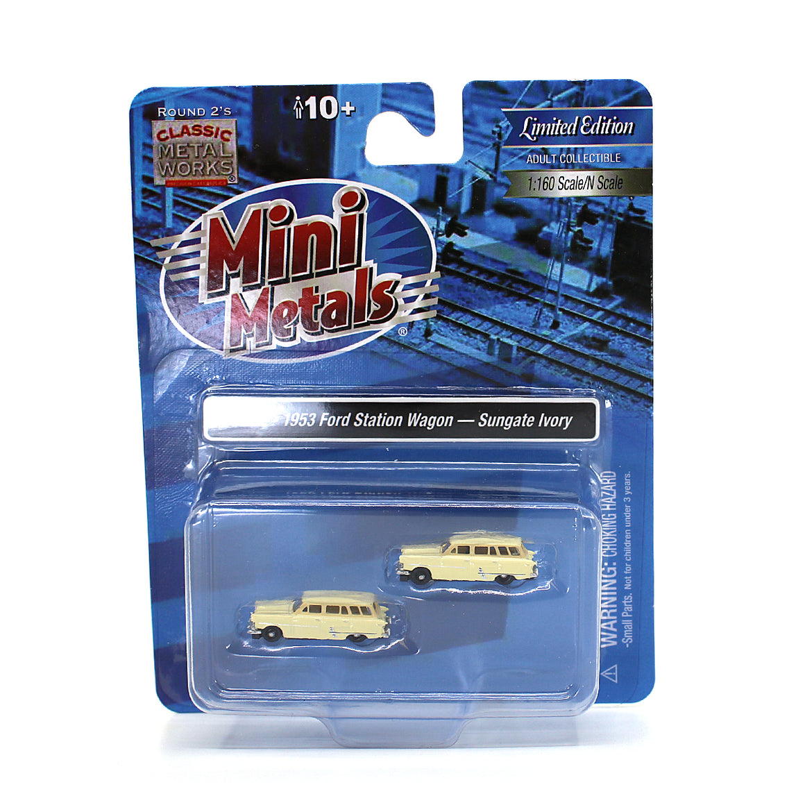N Scale: 1953 Ford Station Wagon - Sungate Ivory