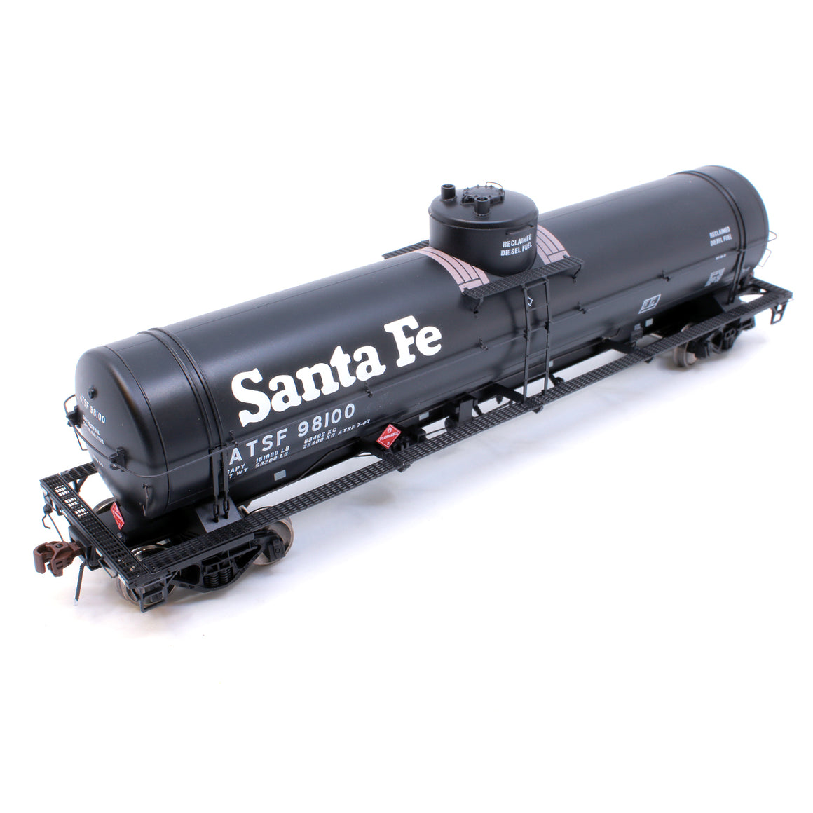 HO Scale: GATC Welded Tank Car - ATSF 'Reclaimed Diesel Fuel'