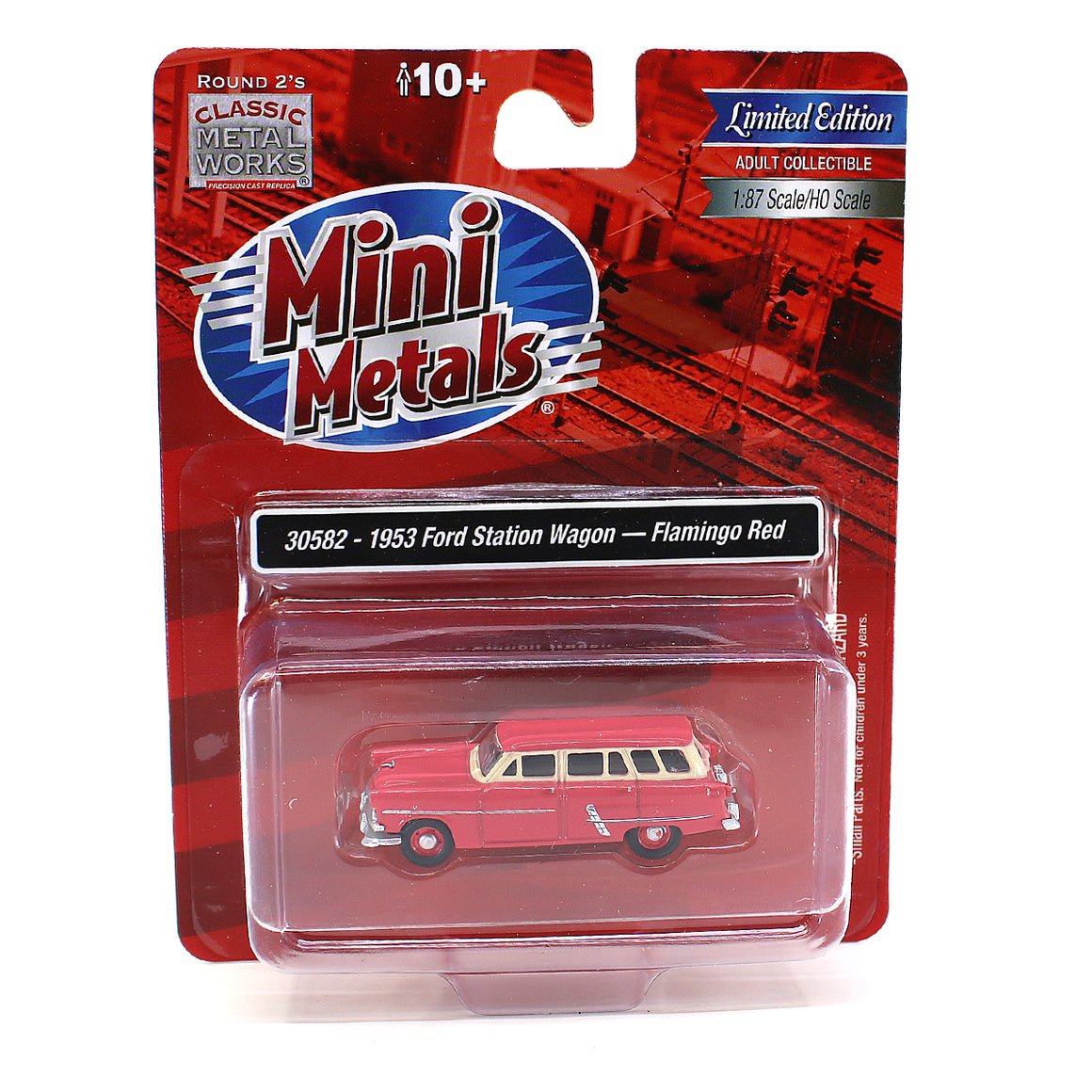 HO Scale: 1953 Ford Station Wagon - Flamingo Red
