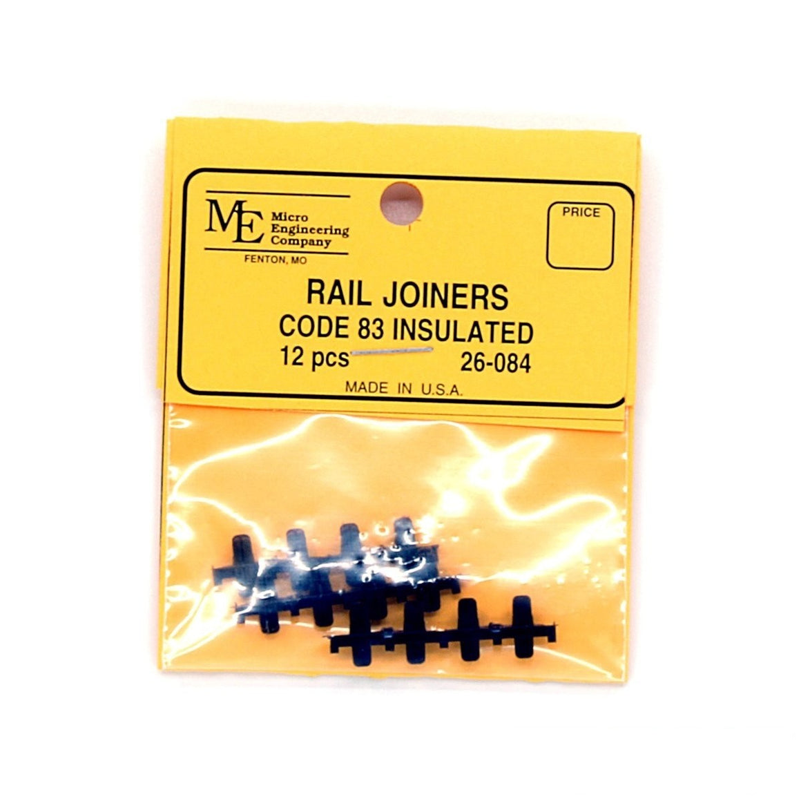 HO Scale: Plastic Insulated Rail Joiners - Code 83 (12 Pack)