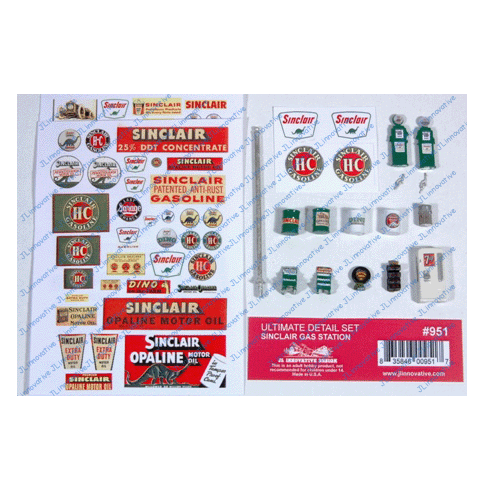 HO Scale: Sinclair Gas Station Ultimate Detail Set