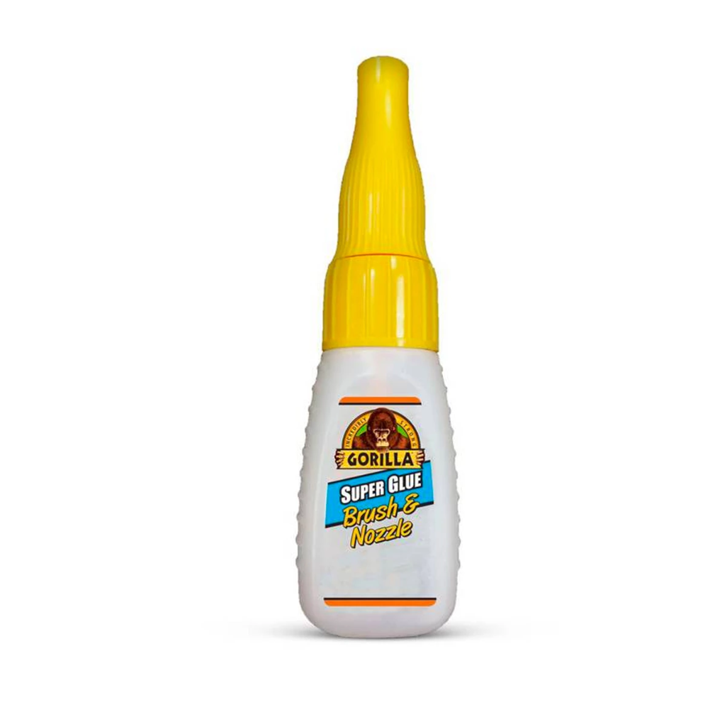 Gorilla Glue: Super Glue CA Adhesive - Brush & Nozzle Bottle - 10 Gram