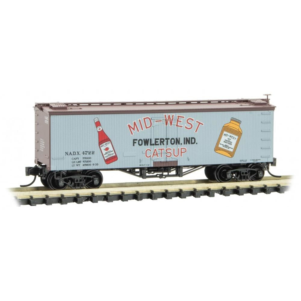 N Scale: 36' Wood Sheathed Reefer - Mid-West Catsup