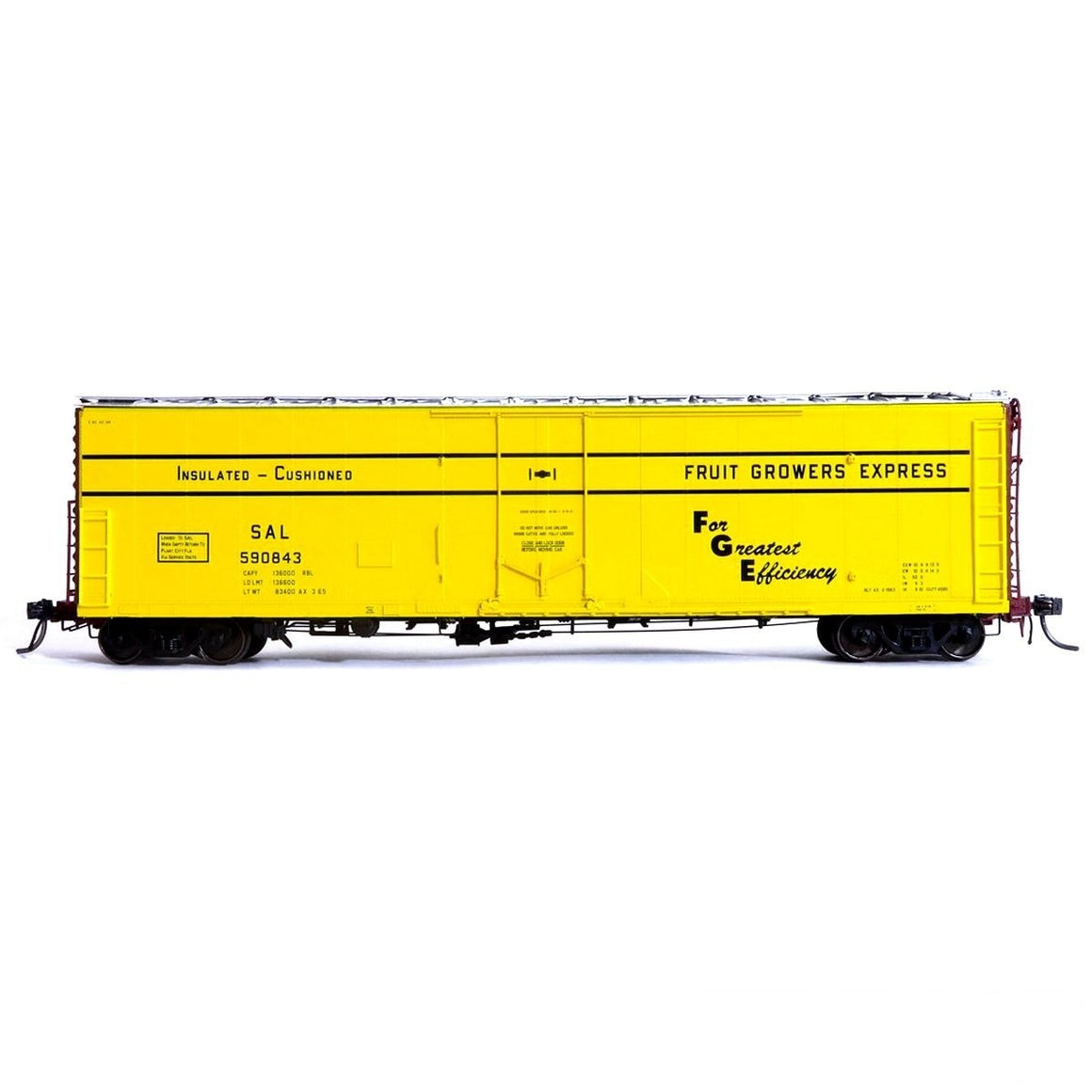 HO Scale: FGE Plate B Insulated Boxcar - SAL 'AX 3-65'