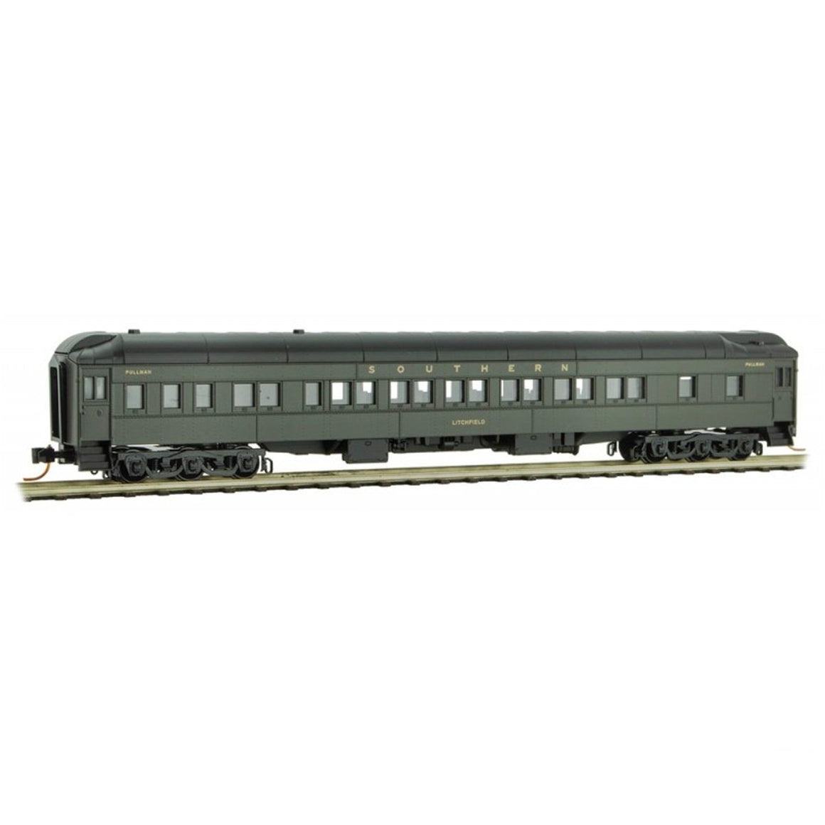 "N Scale: 12-1 Heavyweight Sleeper Car - Southern ""Litchfield"""