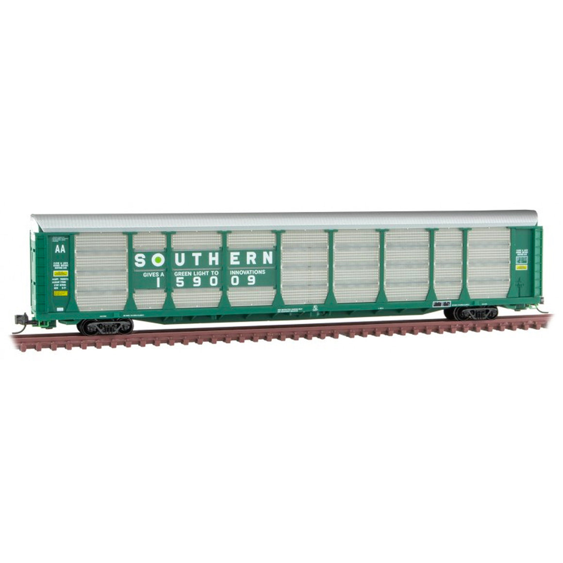 N Scale: 89' Tri-Level Enclosed Autorack - Southern