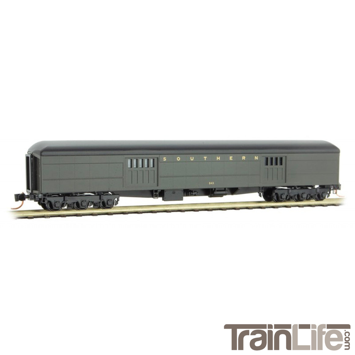N Scale: 70' Heavyweight Baggage Car - Southern