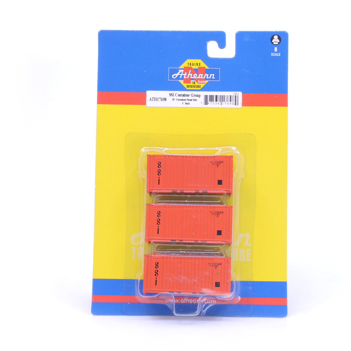 N Scale: 20' Corrugated Container - SSI - 3 Pack