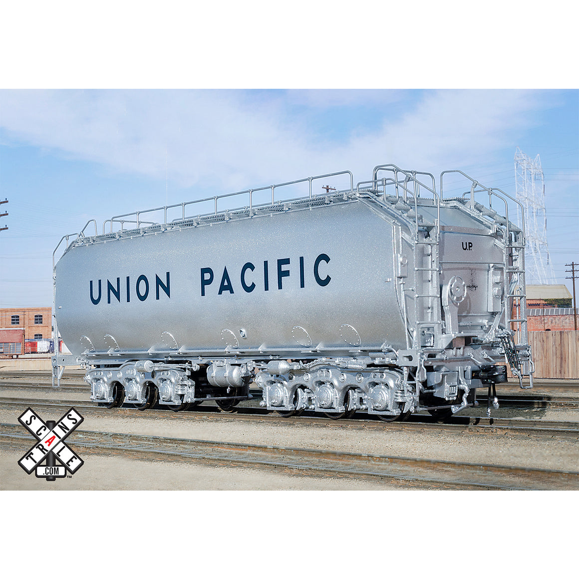 HO Scale: Rivet Counter - Union Pacific Diesel Fuel Tender - Silver Trucks