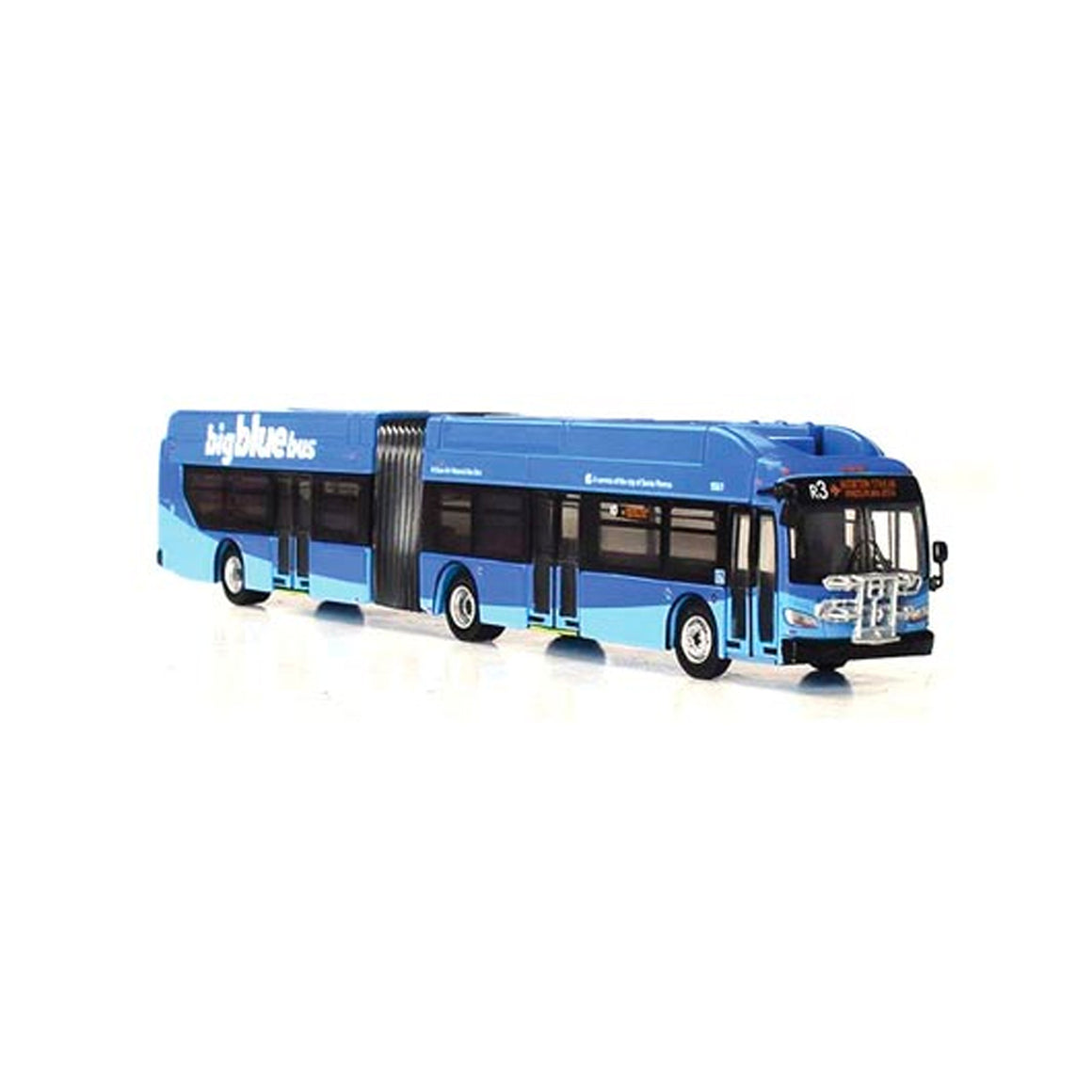 HO Scale: New Flyer Excelsior Articulated Bus - Santa Monica 'Big Blue Bus'