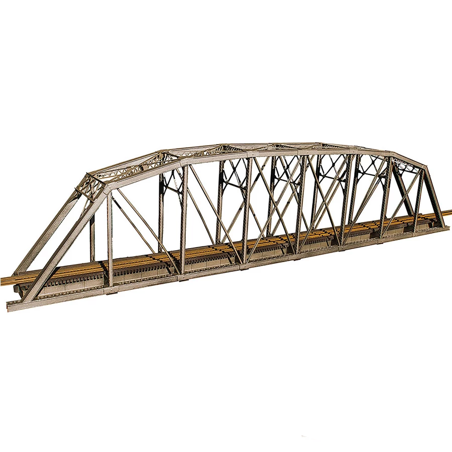 HO Scale: 200 Foot Single Track Parker Truss Bridge - Kit