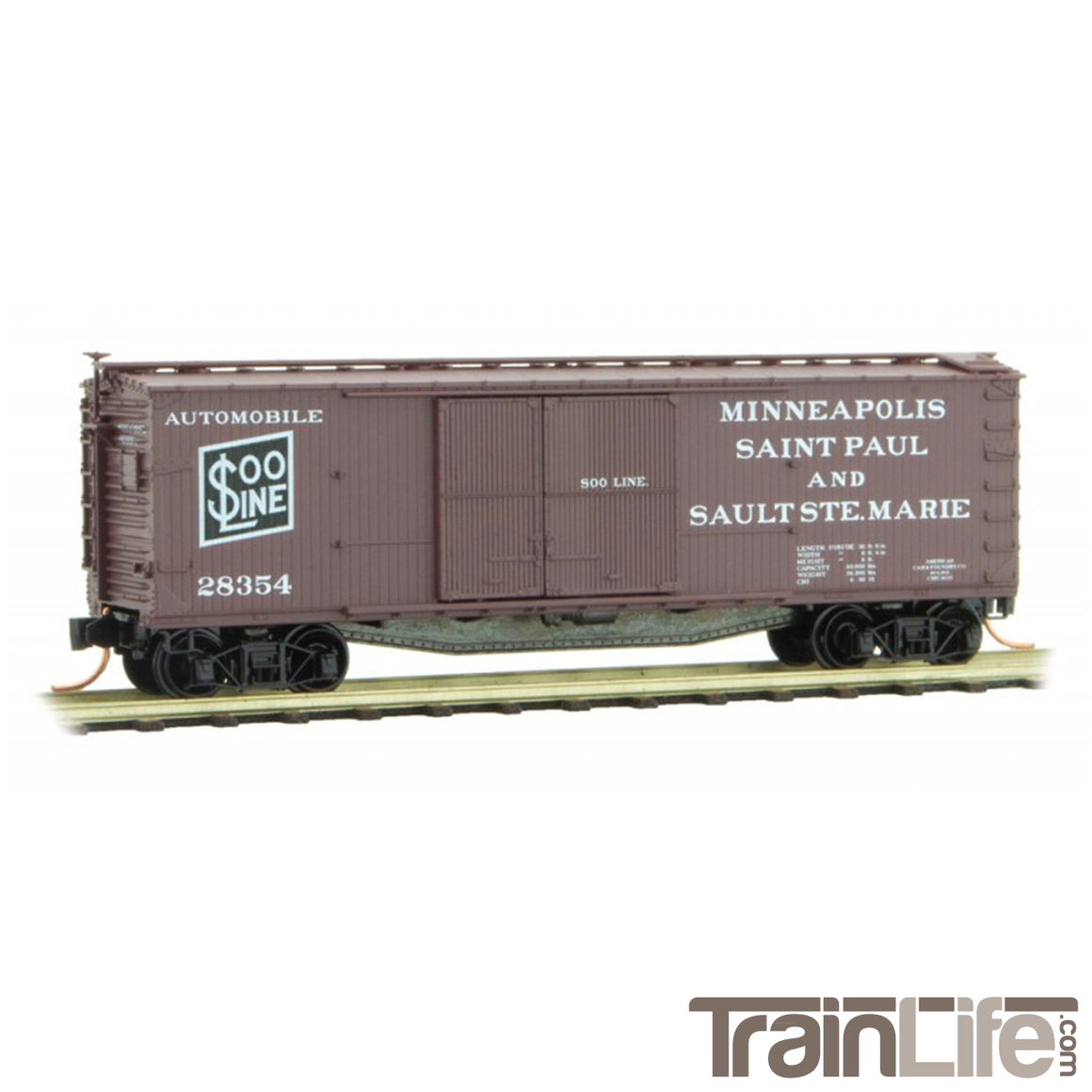 N Scale: 40' Double-Sheathed Automobile Boxcar - SOO