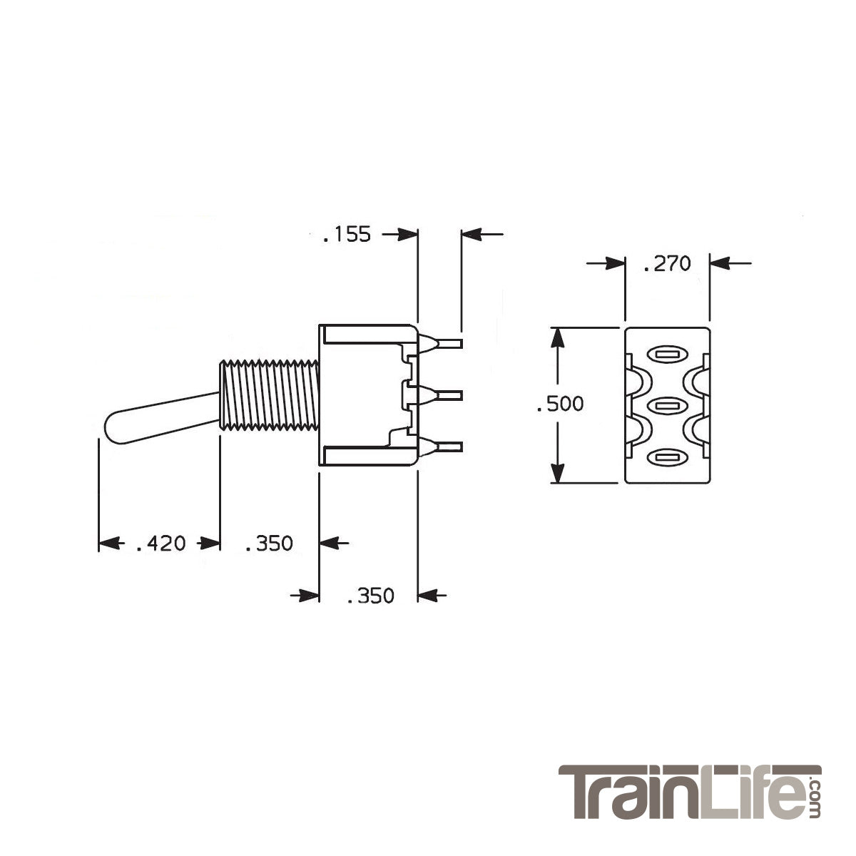 Nce On Toggle Switches 125v Switch Wiring Diagram