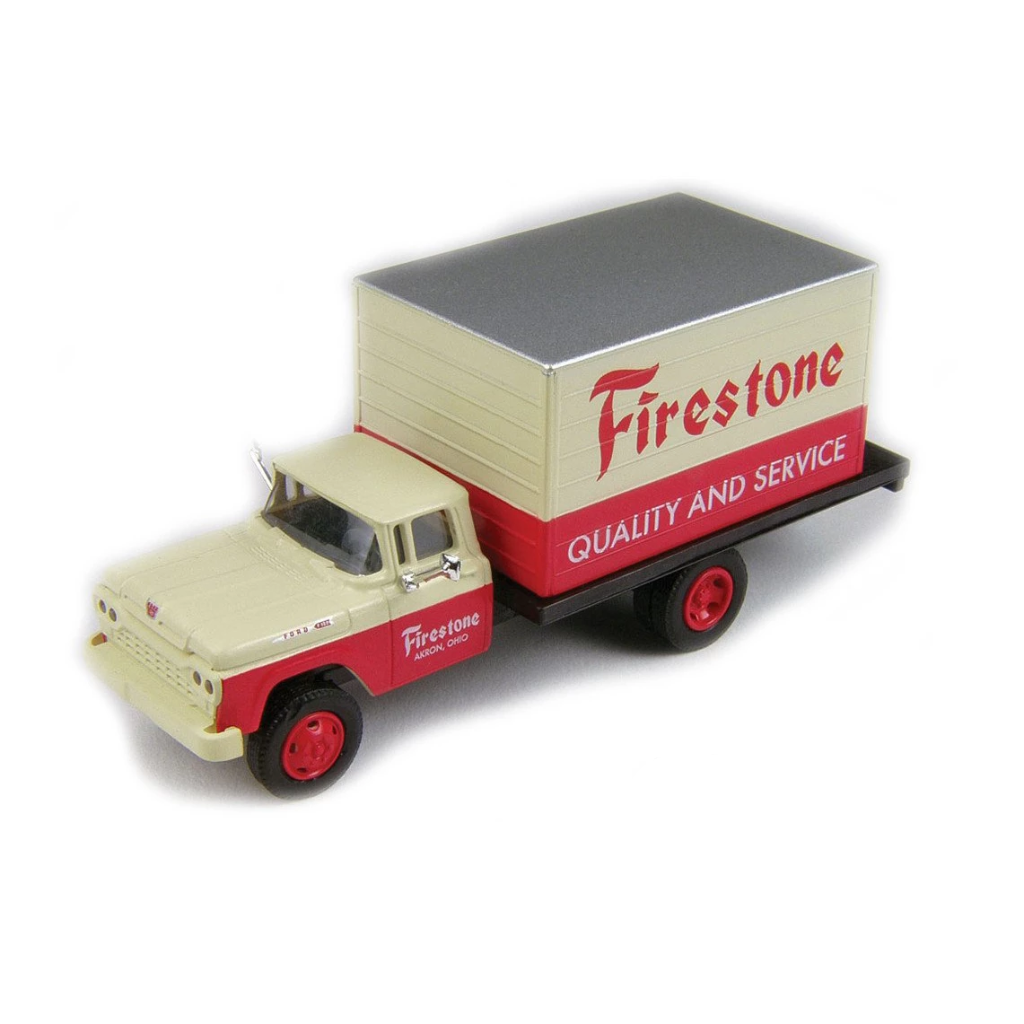 HO Scale: 1960 Ford F-500 Box-Body Delivery Truck - Firestone