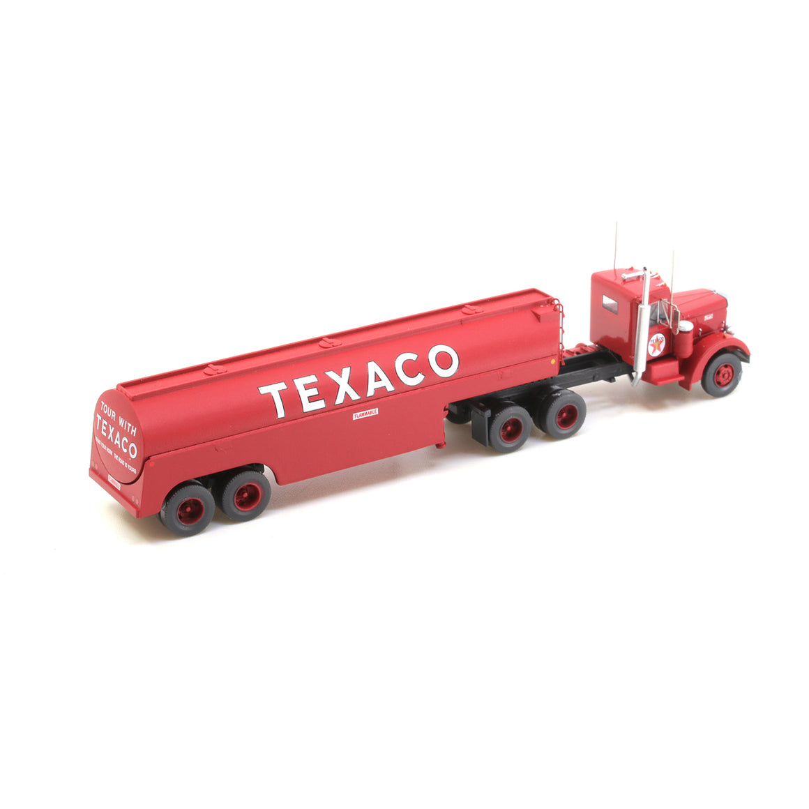 N Scale: Peterbilt 350 with Fuel Tank Trailer - Texaco
