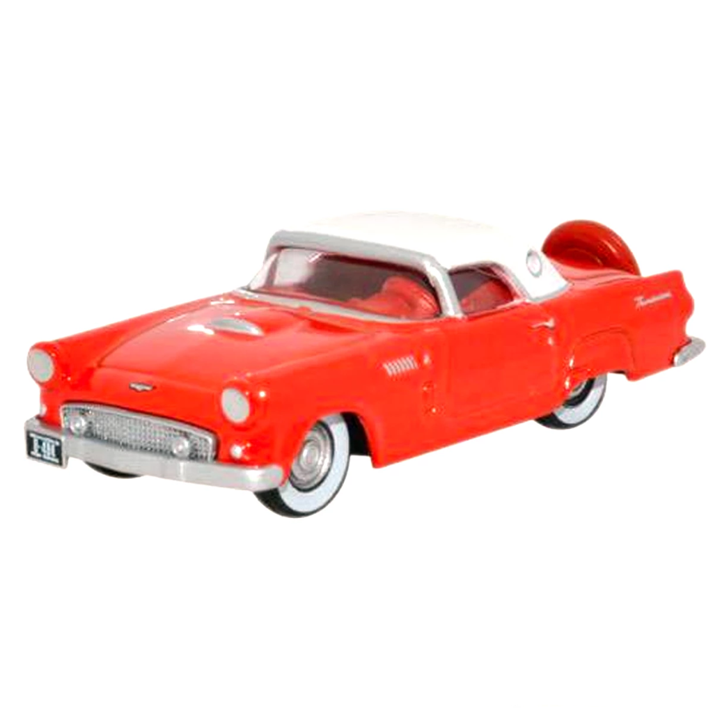 HO Scale: 1956 Ford Thunderbird - Red, White