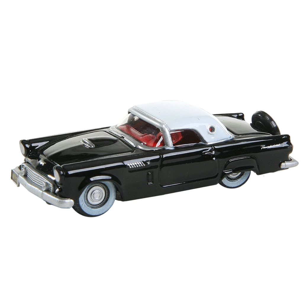 HO Scale: 1956 Ford Thunderbird - Black, White