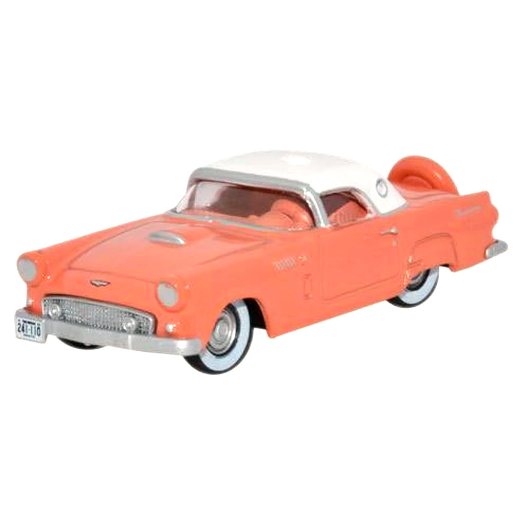 HO Scale: 1956 Ford Thunderbird - Coral, White