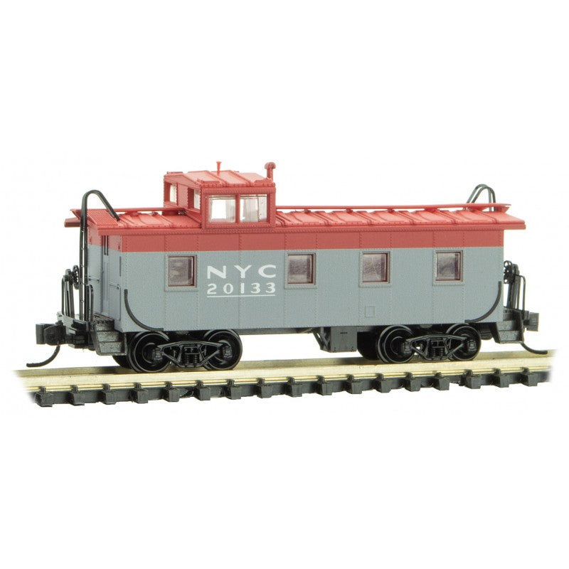 N Scale: 36' Steel Riveted Caboose - New York Central