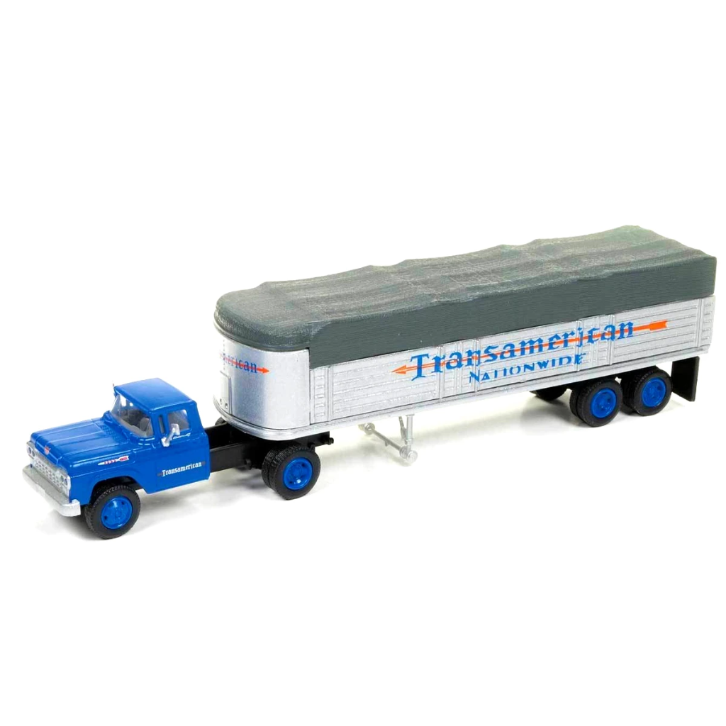 HO Scale: 1960 Ford Tractor/Trailer Set - TransAmerican
