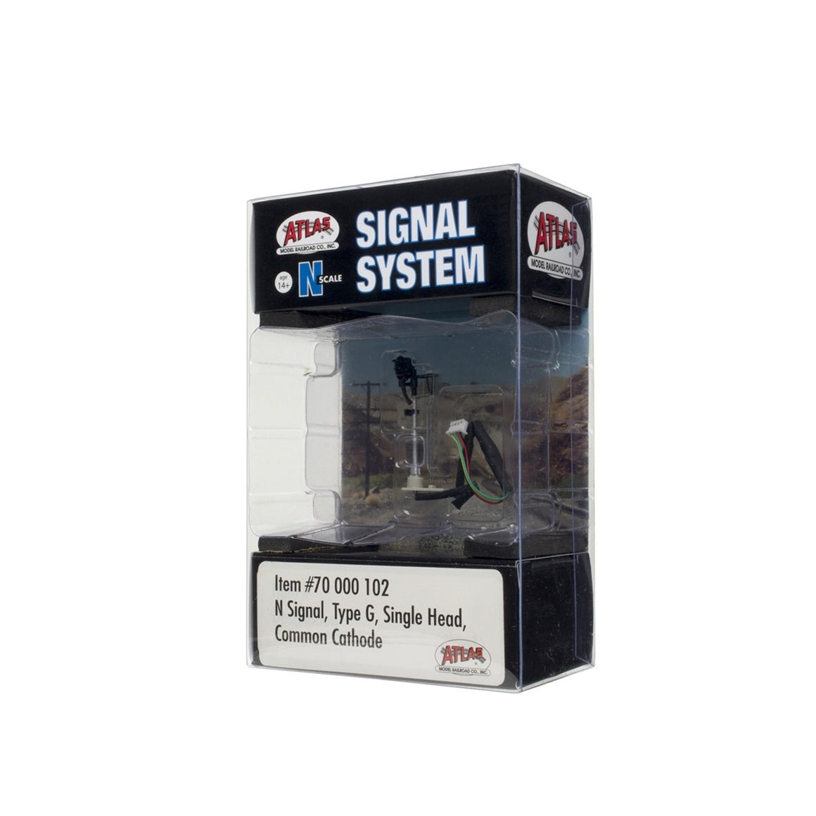 N Scale: Signal System Type G Signals - Single Head