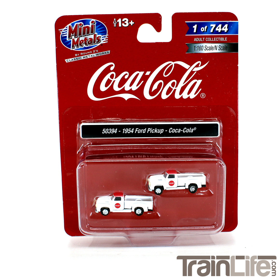 N Scale: 1954 Ford Pickup Truck - Coca Cola - 2 Pack