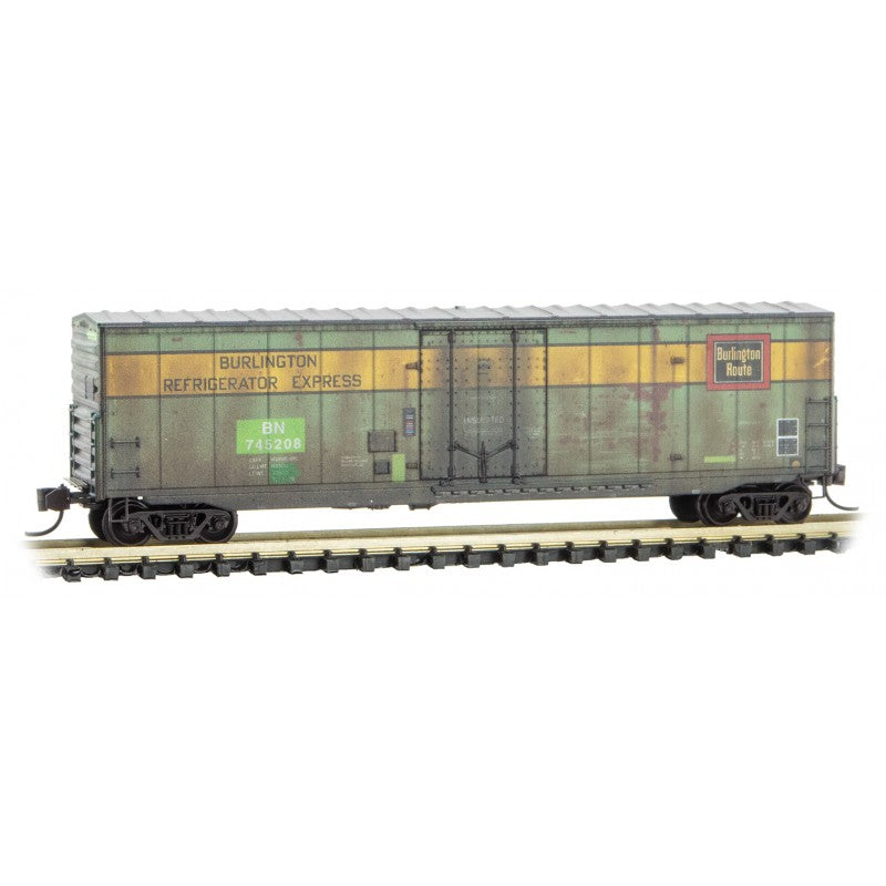 N Scale: 40' Standard Plug Door Boxcar - BN/BNFE 'Weathered'