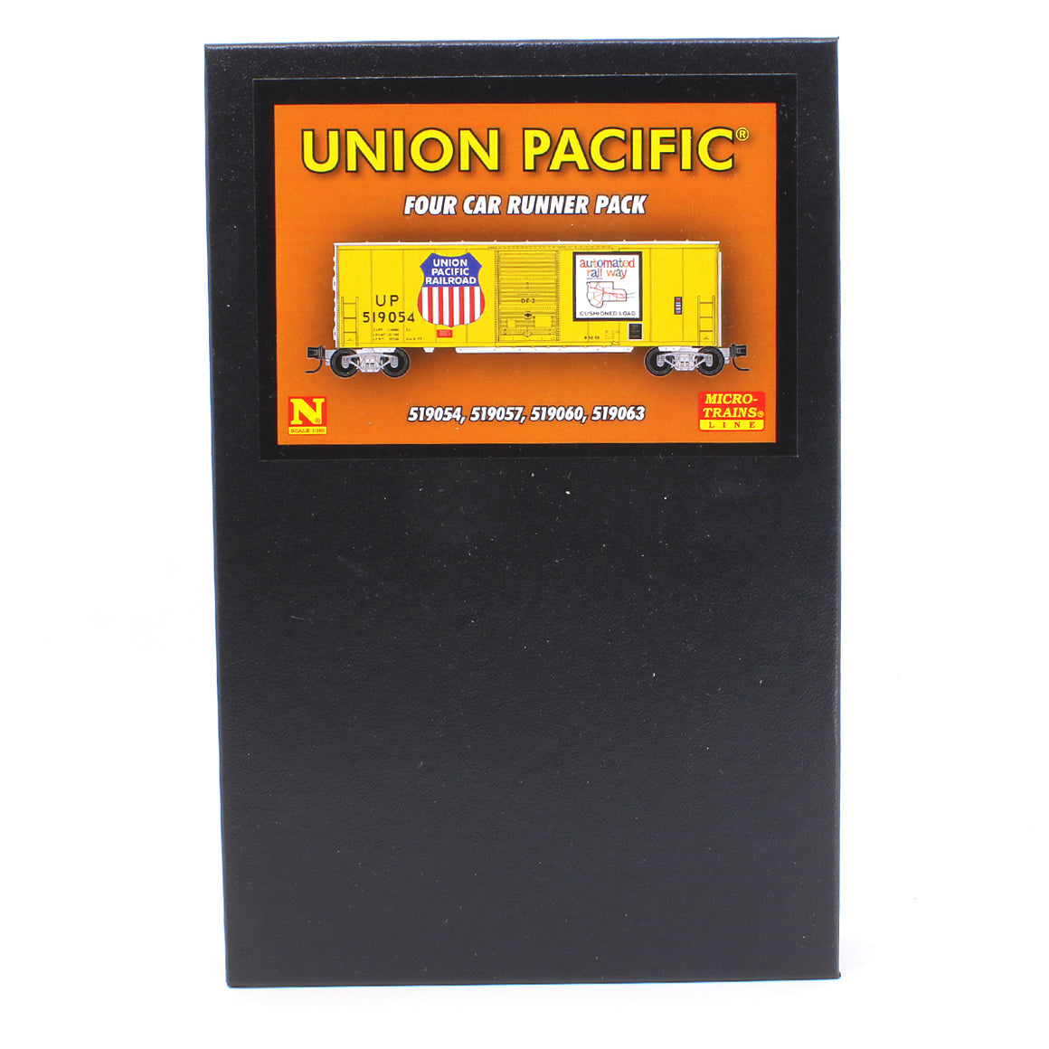 N Scale: 40' Standard Boxcar - Union Pacific - 4 Pack