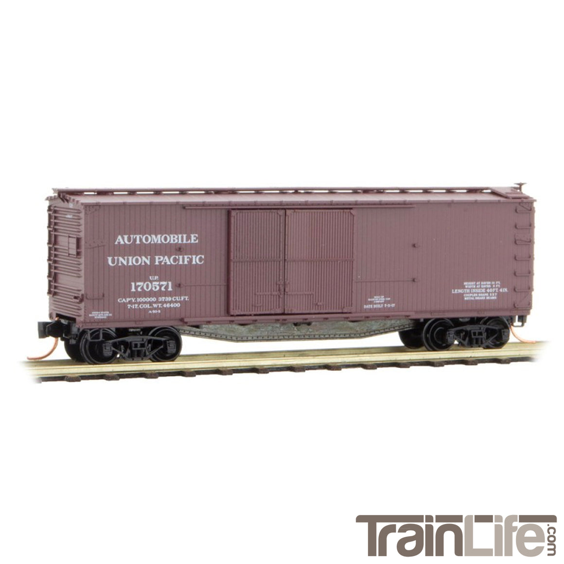 N Scale: 40' Double-Sheathed Automobile Boxcar - Union Pacific