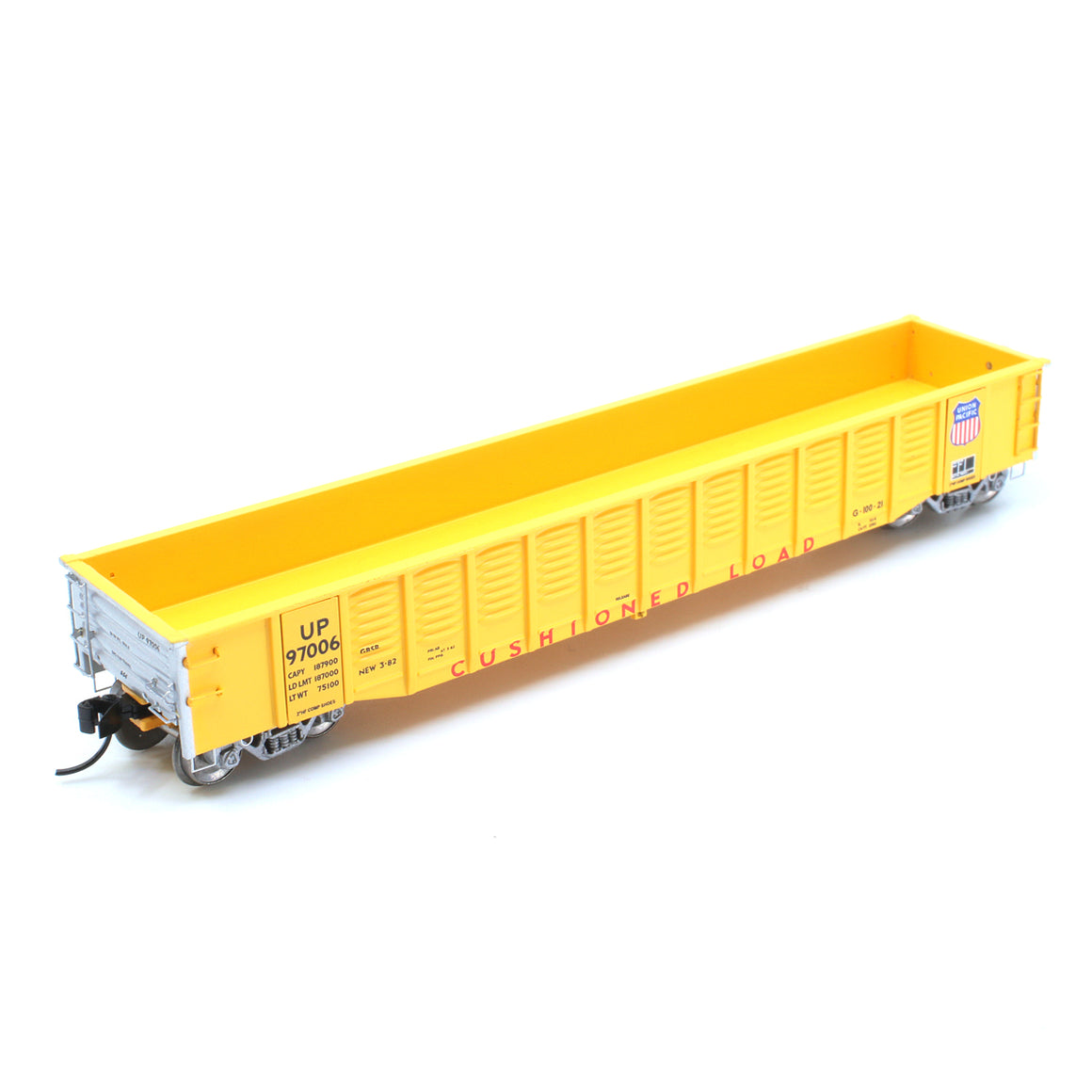 "N Scale: Thrall 52' 6"" Corrugated Steel Gondola - Union Pacific"