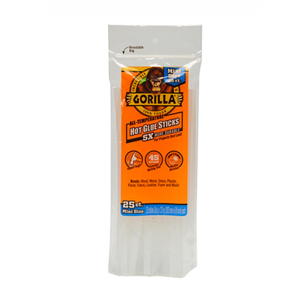 Gorilla Glue: Hot Glue Sticks - Mini Size - 8""